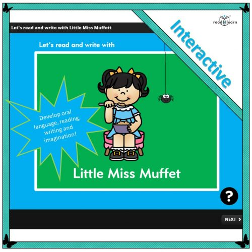 Let's read and write with Little Miss Muffet