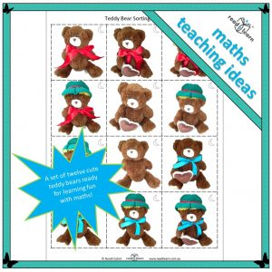 Teddy bear cards for sorting