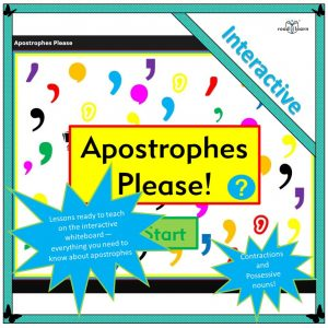 teaching apostrophes for contractions and possessive nouns
