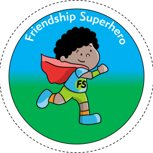 Friendship Superhero badges