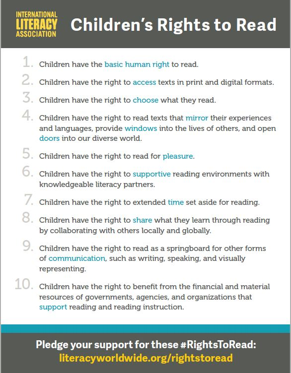 International Literacy Association Children's Rights to Read