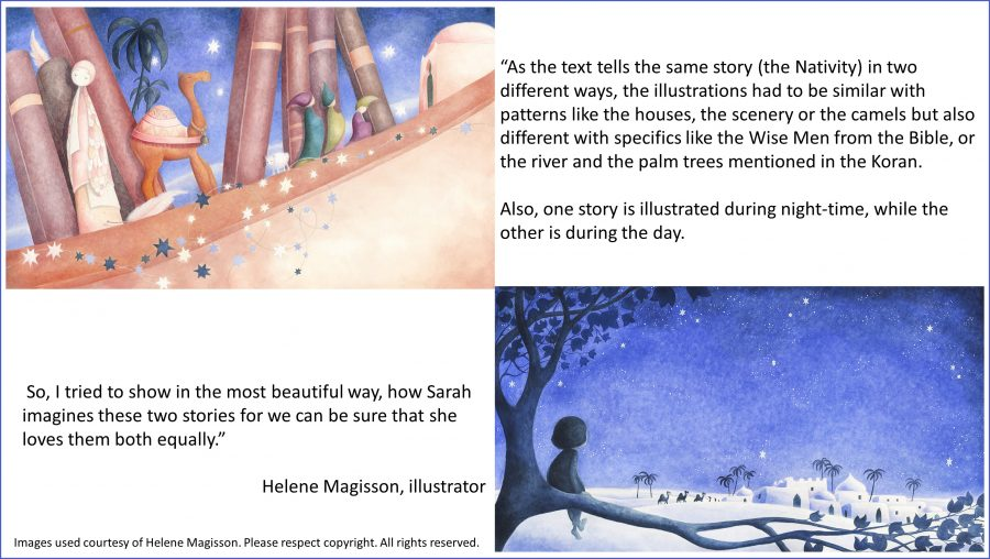 Sarah's Two Nativities illustrated by Helene Magisson