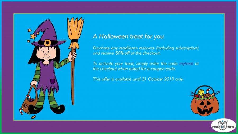 a special offer for Halloween