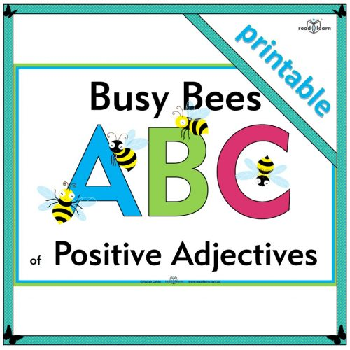 Busy Bees ABC of Positive Adjectives