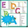 Busy Bees alphabet of positive adjectives