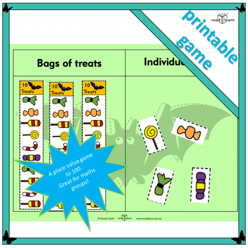 Collect the treats — a place value game for Halloween
