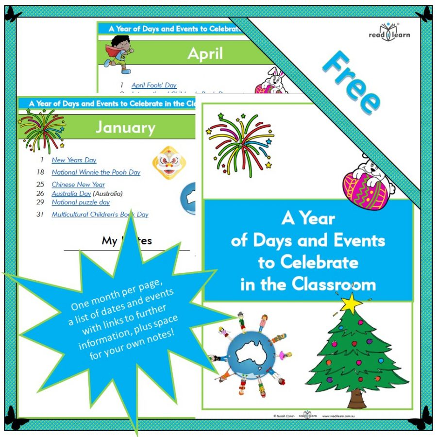 A Year of days and events to celebrate in the classroom