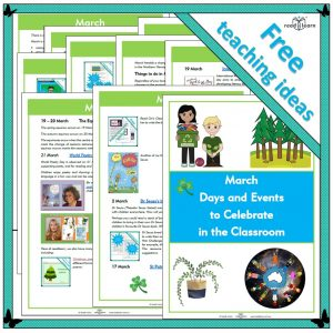 March Days and Events to Celebrate in the Classroom