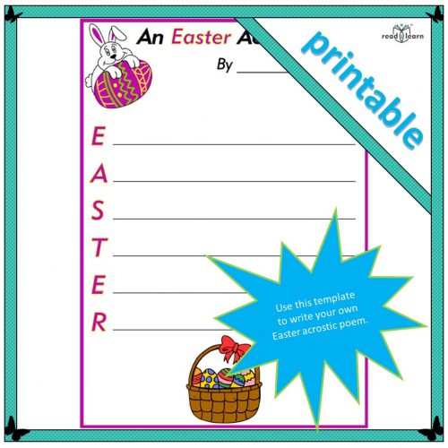 An Easter acrostic template