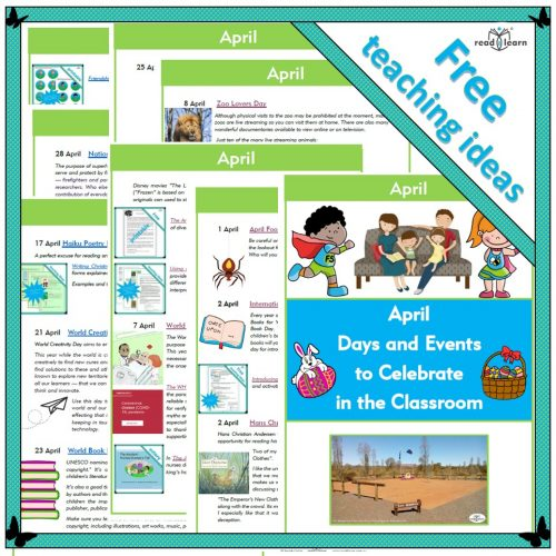 April days and events to celebrate in the classroom