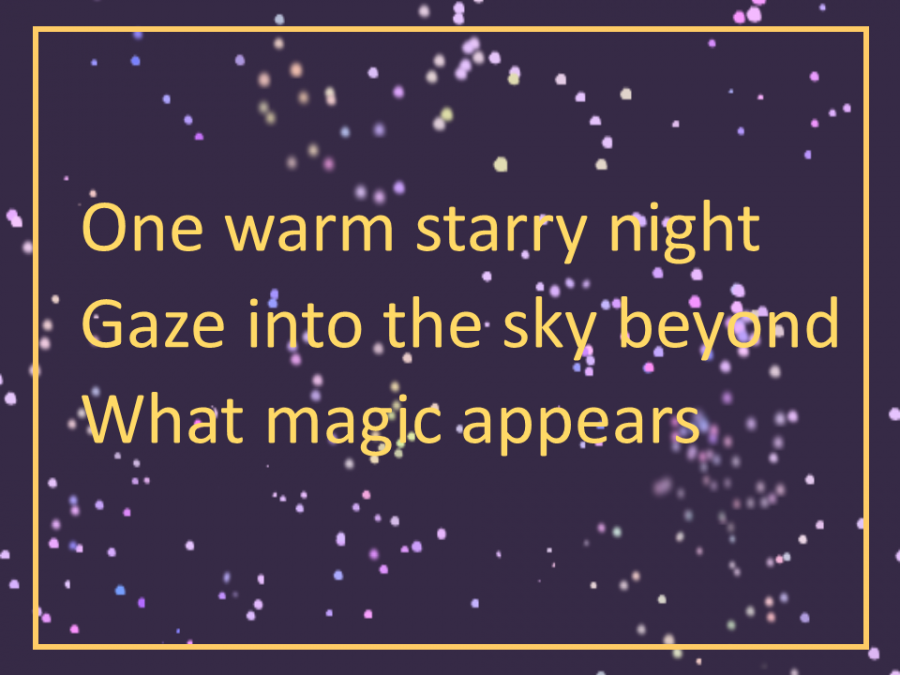 One warm starry night - a haiku poem