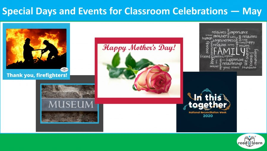 Special Days and Events for Classroom Celebrations — May