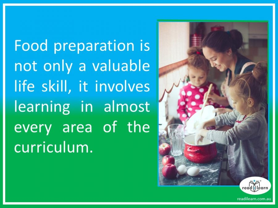 food preparation is great for learning
