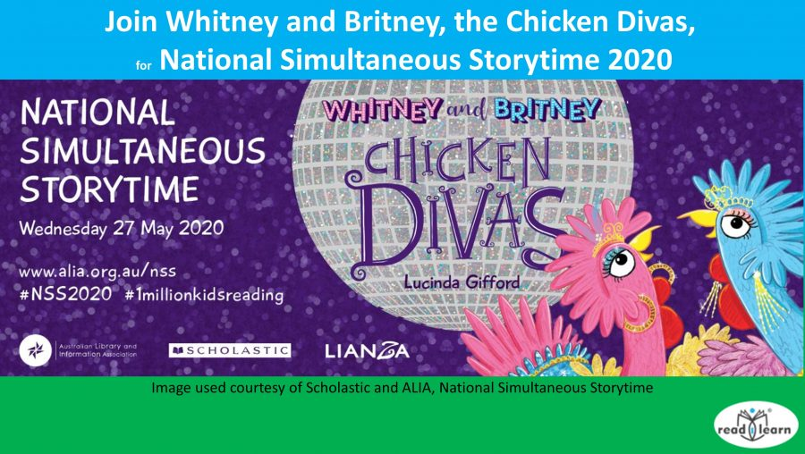 Join Whitney and Britney, the Chicken Divas for National Simultaneous Storytime 2020
