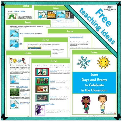 June Days and Events to Celebrate in the Classroom