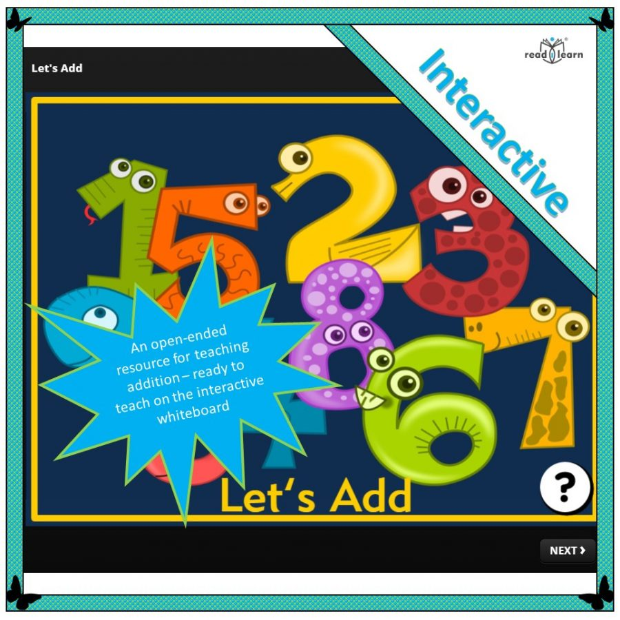 let's add - an interactive lesson for teaching addition
