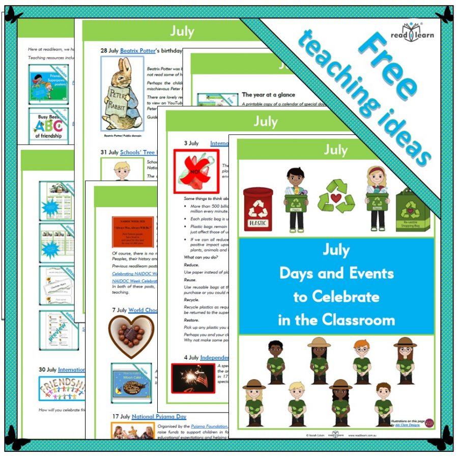 July Days and Events to Celebrate in the Classroom