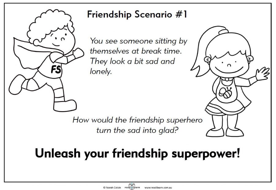 Friendship scenario - feeling sad