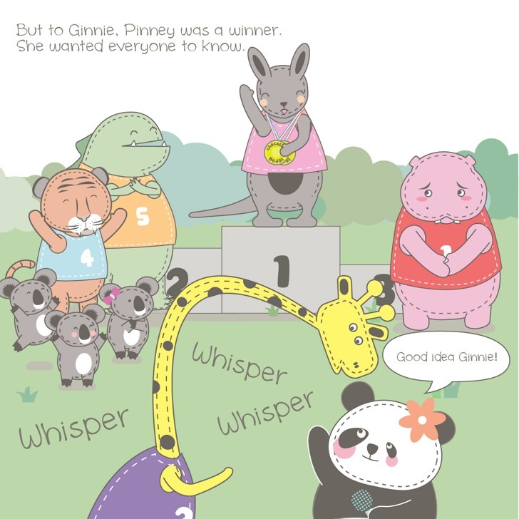 A page from Pinney the Winner © Winnie Zhou and Penny Harris