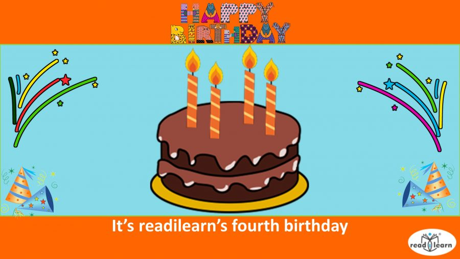 It's readilearn's fourth birthday