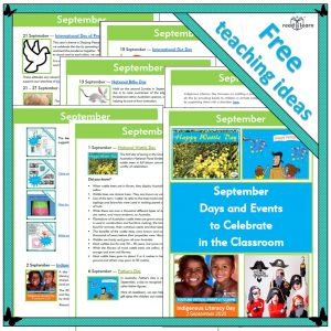 September Days and Events to Celebrate in the Classroom