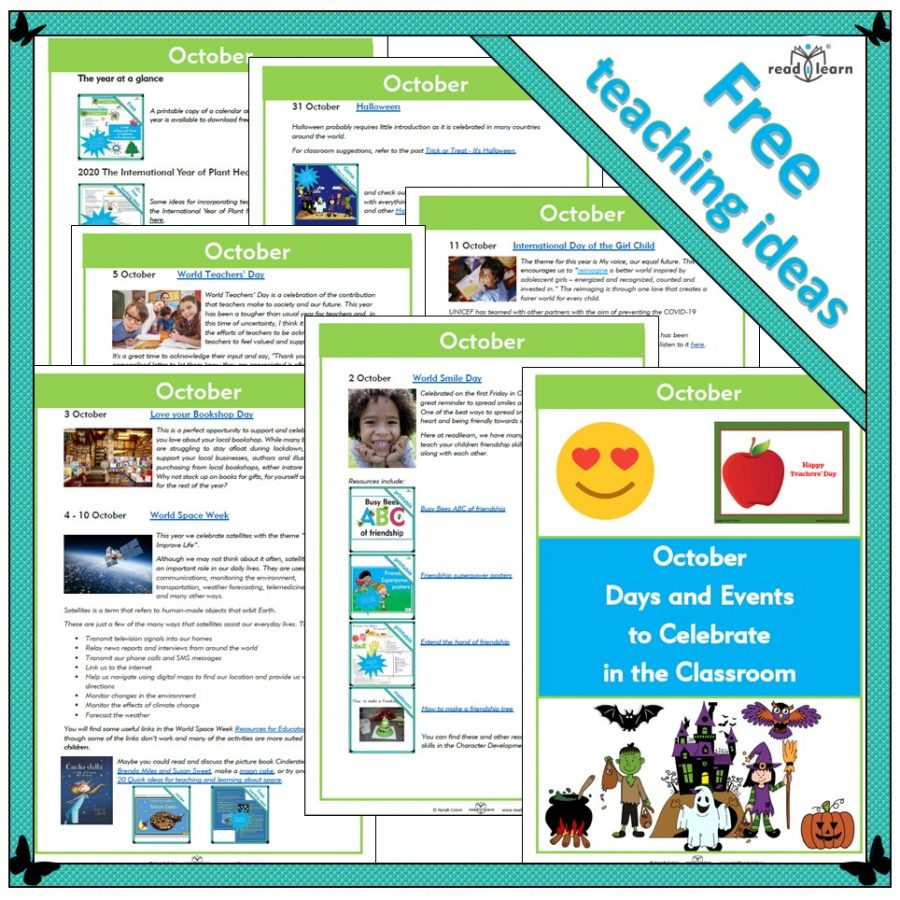 October Days and Events to Celebrate in the Classroom