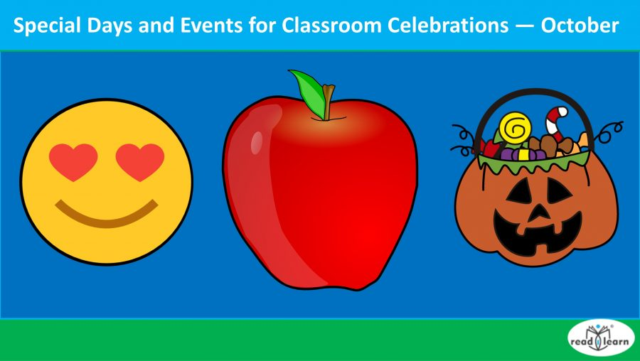 Special Days and Events for Classroom Celebrations — October