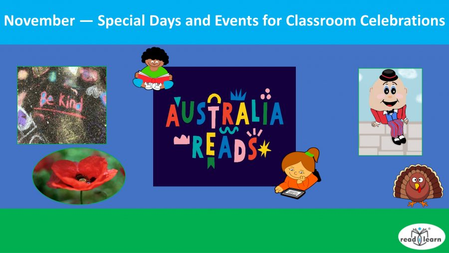 November — Special Days and Events for Classroom Celebrations