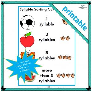 Syllable sorting cards