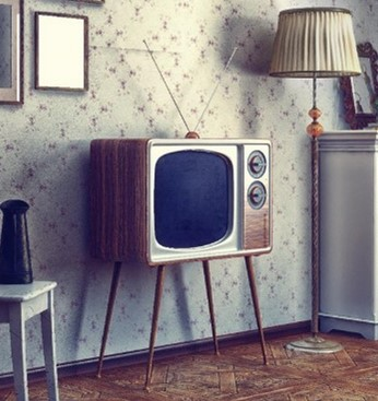 old fashioned television set