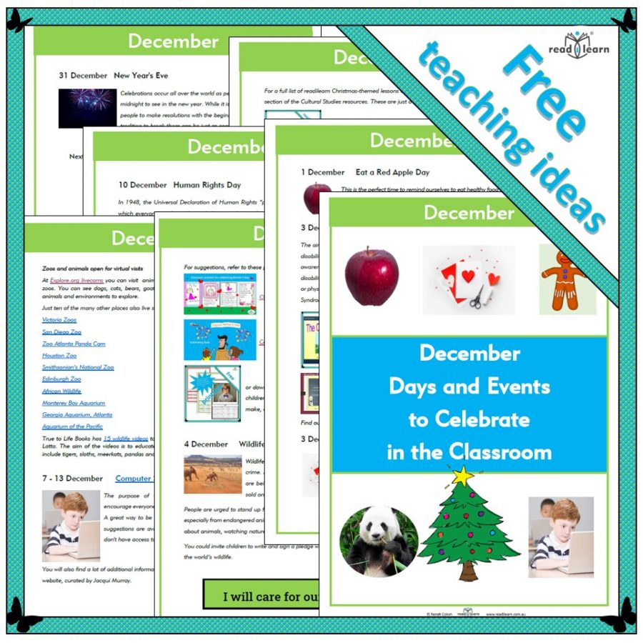December Days and Events to Celebrate in the Classroom