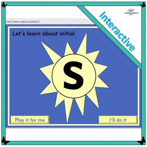 Let's learn about initial S