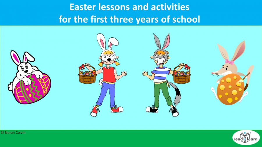 Easter lessons and activities for the first three years of school