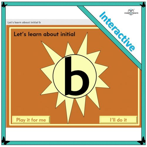 Let's learn about initial b