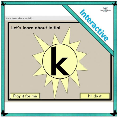Let's learn about initial k