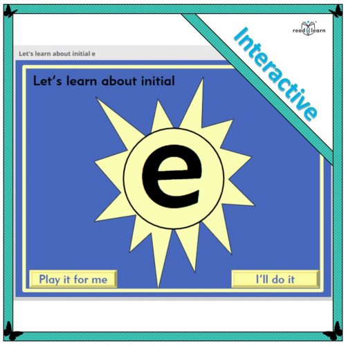 Let's learn about initial e