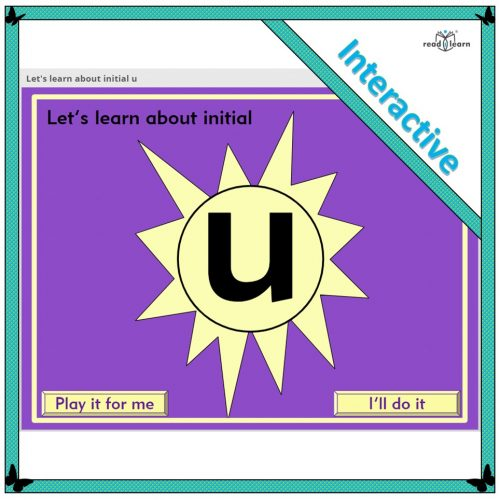 Let's learn about initial u