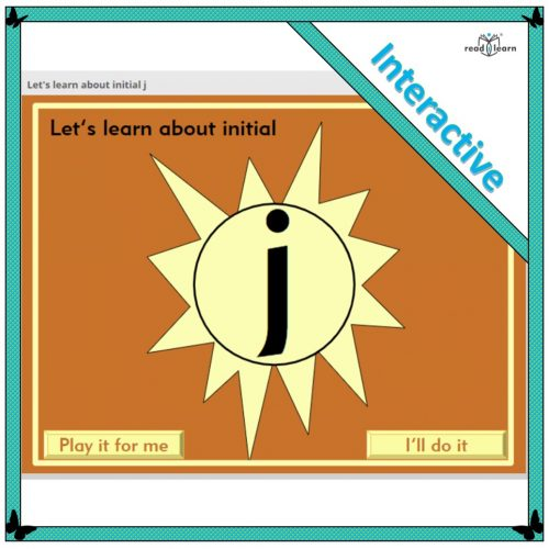 phonics lesson - Let's learn about initial j
