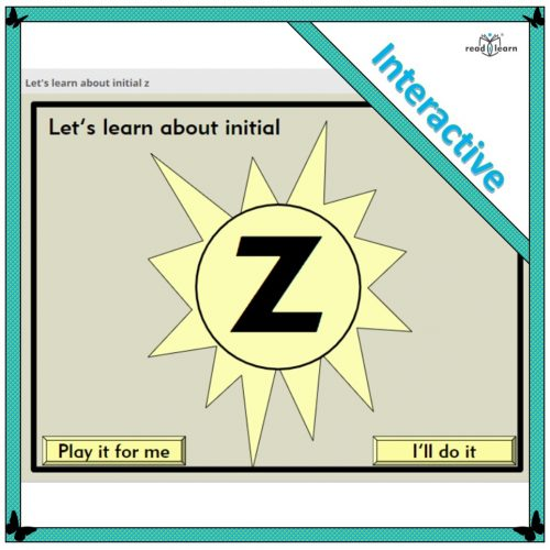 Let's learn about initial z