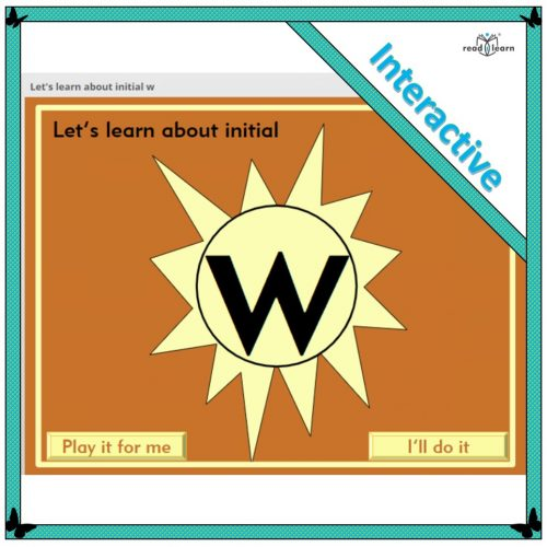 Let's learn about initial w