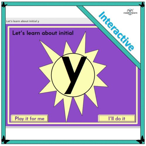 Let's learn about initial y