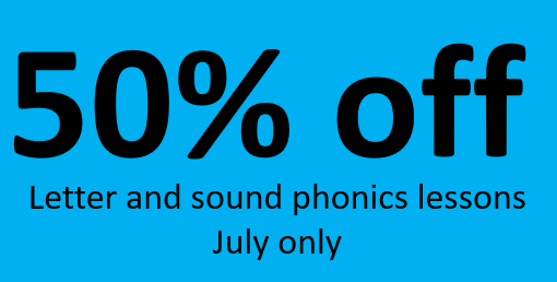 50 percent off letter and sound phonics lessons