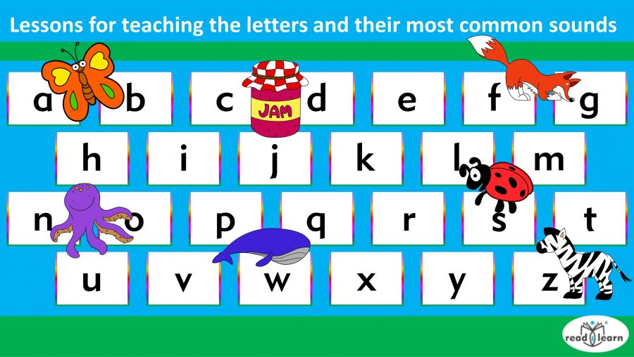 Lessons for teaching the letters and their most common sounds