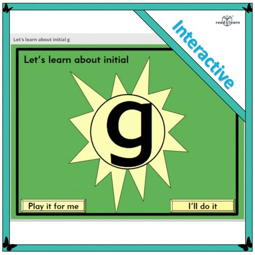 Let's learn about initial g
