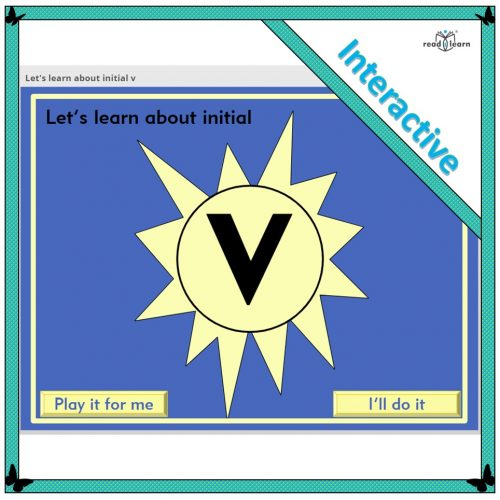 Let's learn about initial v