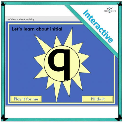 Let's learn about initial q