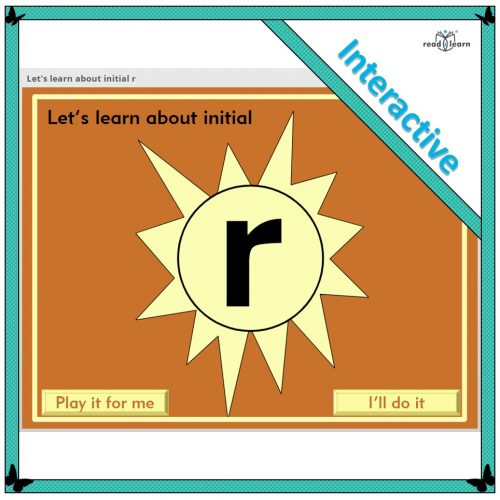 Let's learn about initial r