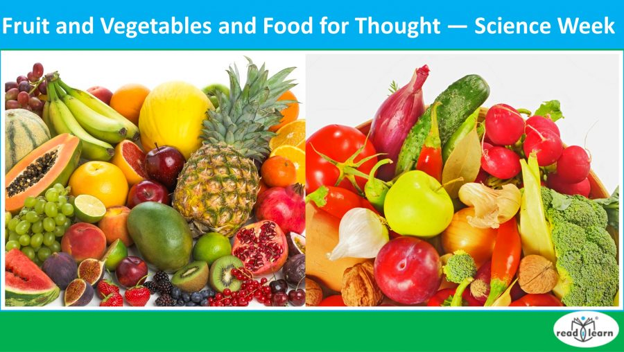 teaching science and health with food, fruit and vegetables